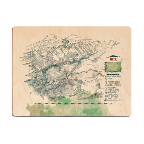 John Muir Trail Wood Print