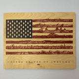 US of Awesome Wood Print