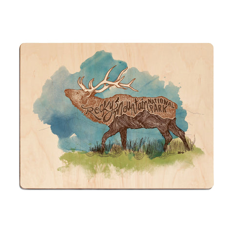 Smokies Bear Wood Print
