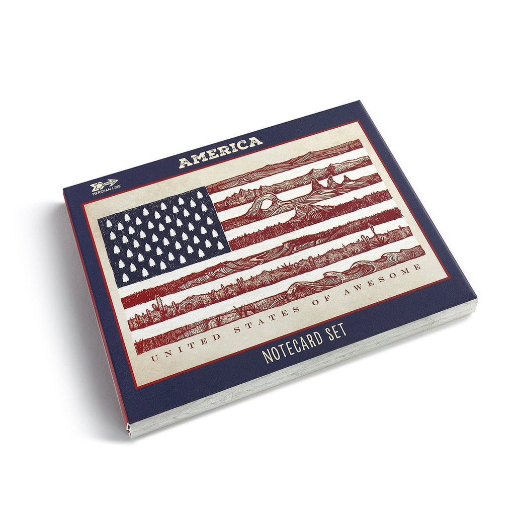 America Notecard Set - The Meridian Line