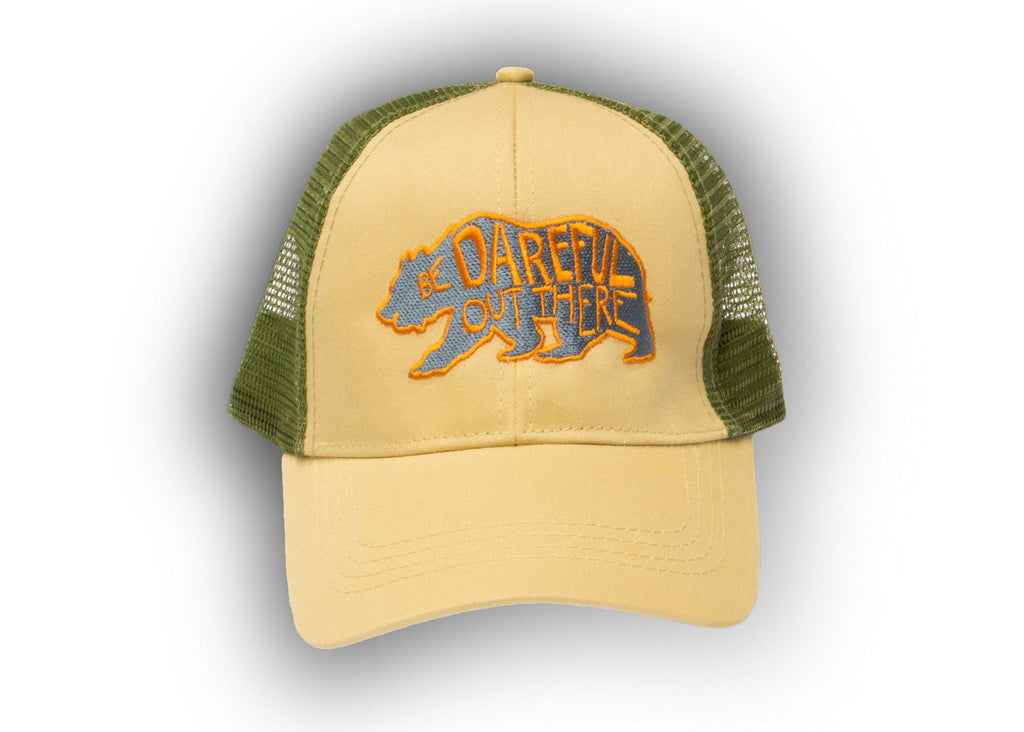 Dare Bear Trucker (Tan/Green Mesh) - The Meridian Line