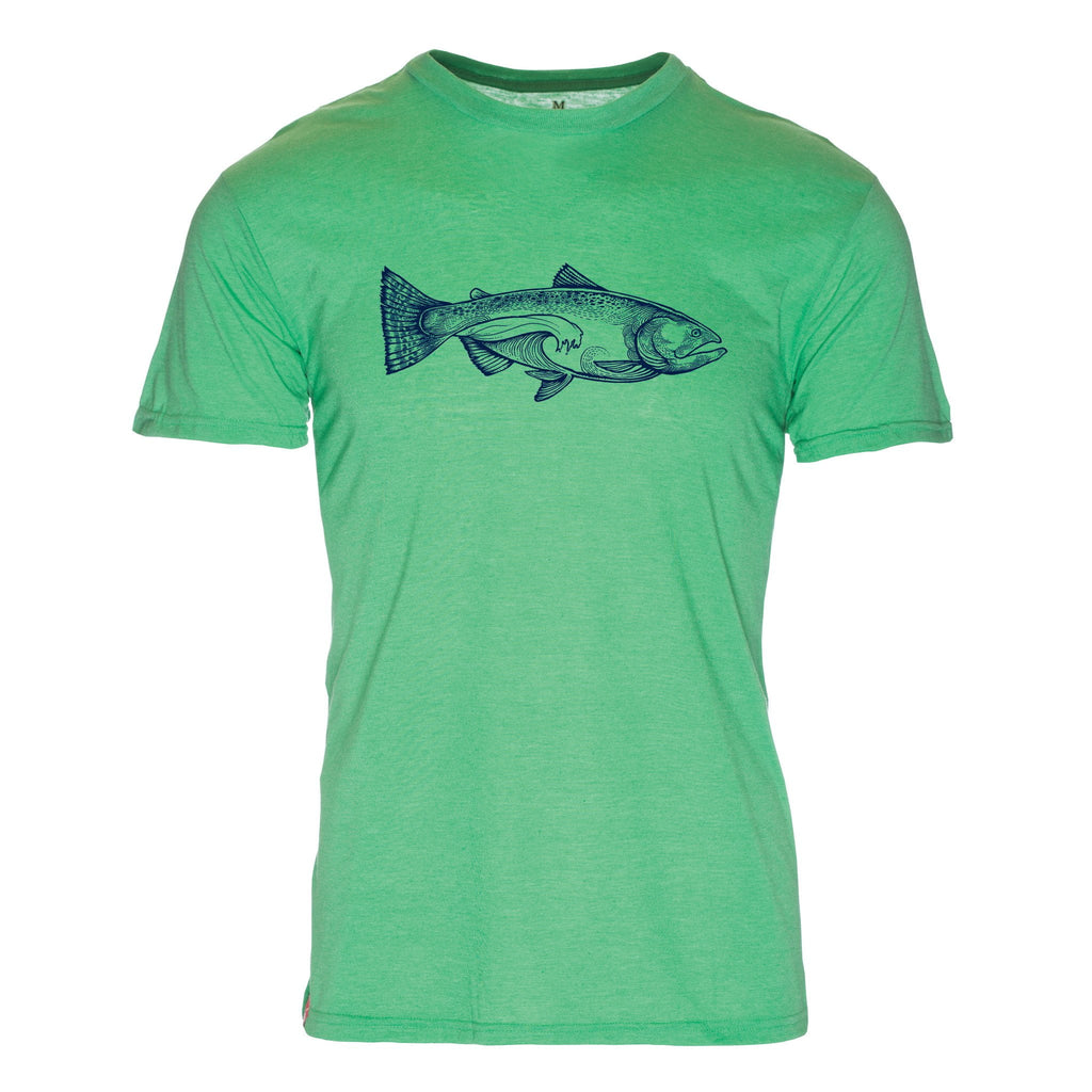 Salmon Wave Triblend T-Shirt - The Meridian Line
