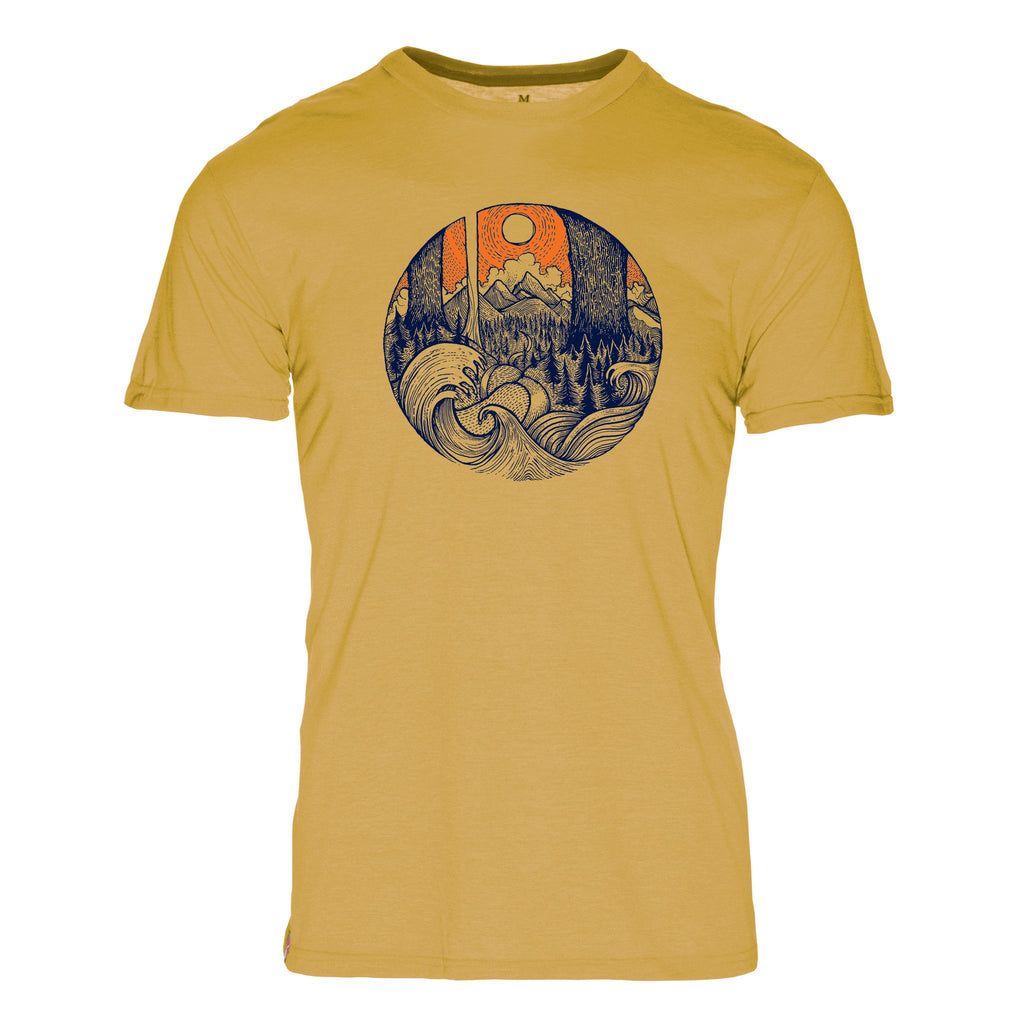 Surf & Timber Triblend T-Shirt - The Meridian Line