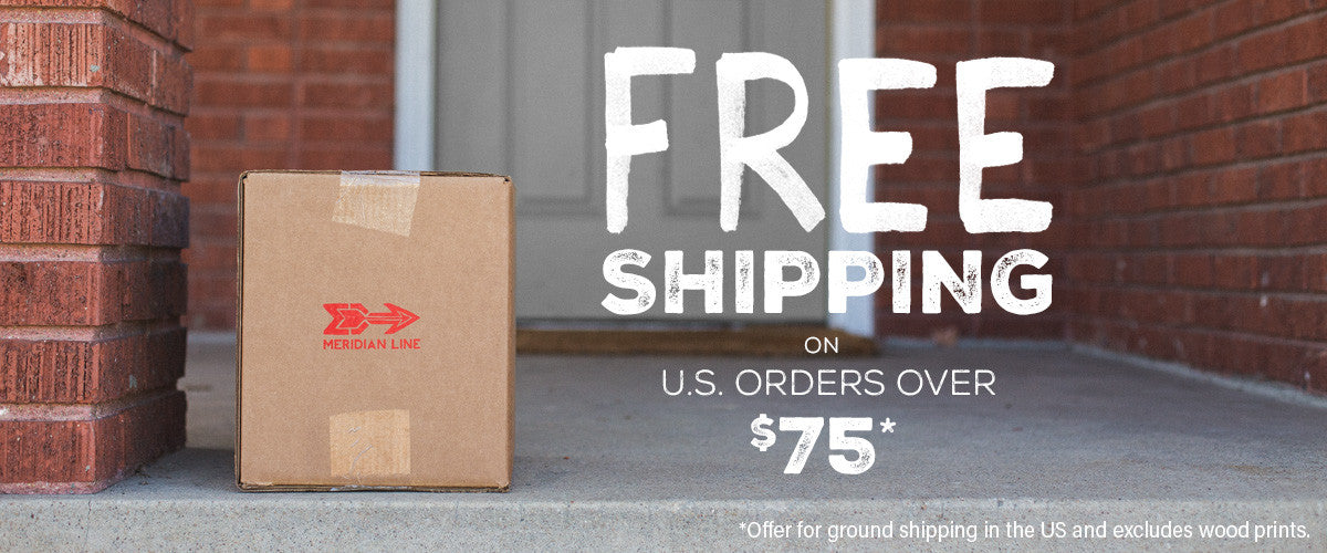 FREE SHIPPING on US orders over $75* (offer excludes wood prints)