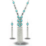 Tassel Necklace and Earring Jewelry Set
