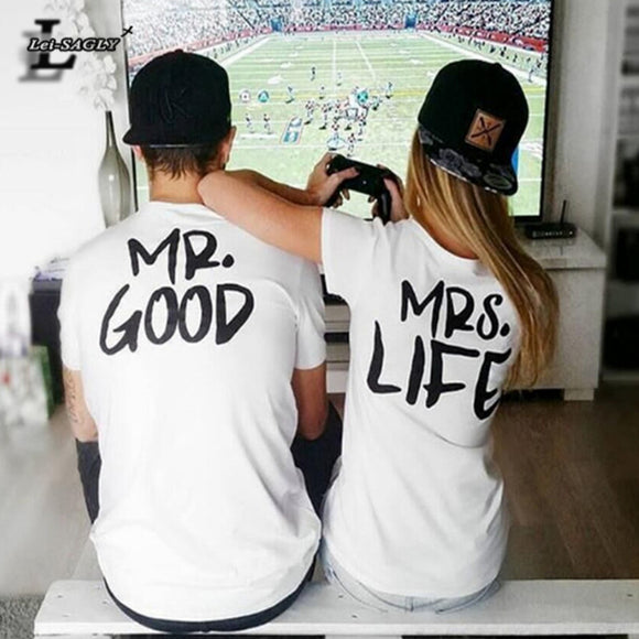 Mr good Mrs Life Couple's T-Shirts