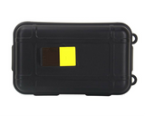 Shockproof waterproof outdoor survival storage case - black
