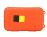 Shockproof waterproof outdoor survival storage case - orange