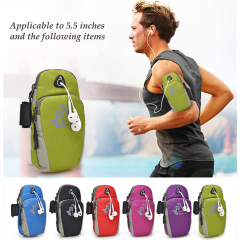Waterproof Adjustable Phone Protective Sports Arm Bag Bag Pouch for Running Jogging GYM and Outdoor Exercise