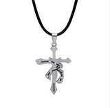 Aquarius Zodiac sign symbol Punk style necklace