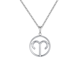 Aries Zodiac sign symbol high quality Silver necklace