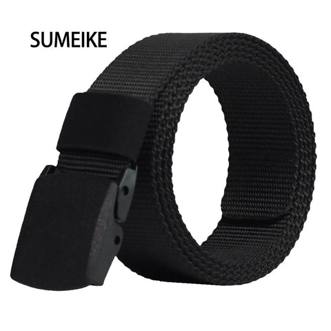 High Quality Auto Buckle Canvas Male Tactical Belt