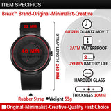 BREAK Unisex black water resistant fashion casual military quartz wristwatch