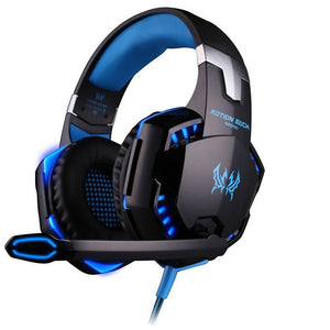 G2000 Gamers Headphone with Microphone and Dynamic Trim Lighting_Blue_Black