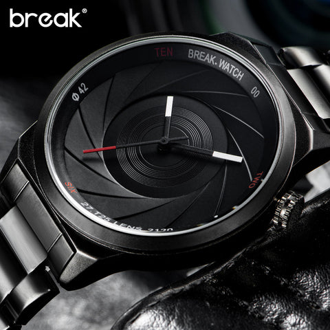 Break Unique Design Photograph Lens Series Unisex Sports Quartz  Wristwatches