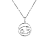 Cancer Zodiac sign symbol high quality Silver necklace