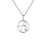 Capricorn Zodiac sign symbol high quality Silver necklace