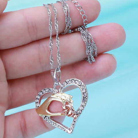 Grandmother's Love Necklace-rose gold