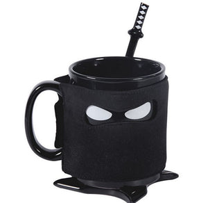 Ninja Coffee Mug with Sleeve Mask and Spoon