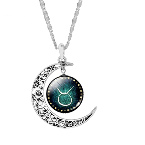 Free! Crescent Moon Zodiac Necklace