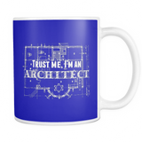 Trust me i'm an architect coffee mug_blue