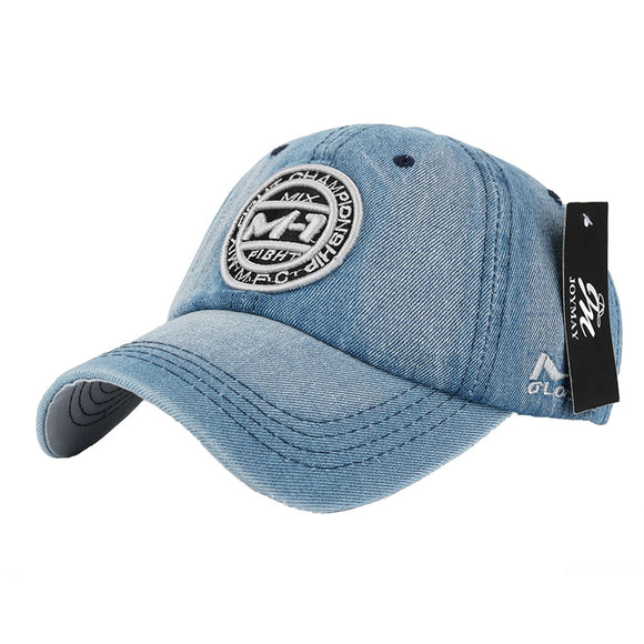 Denim rule unisex baseball caps