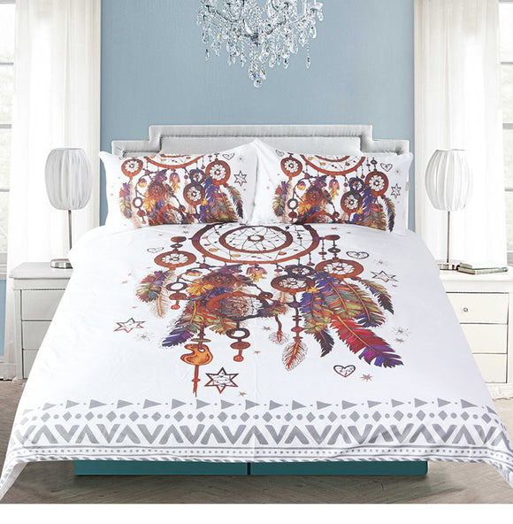Dreamcatcher Bohemian Design 3Pcs Duvet Cover