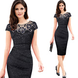 Elegant embroidered Ruched Silhouette Dress