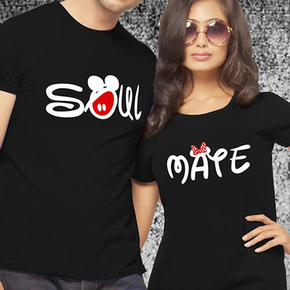 Soul Mate Mickey Couple's T-Shirts