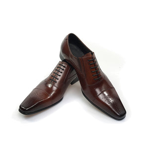 Genuine Leather Italian Fashion Men's Brown Shoes