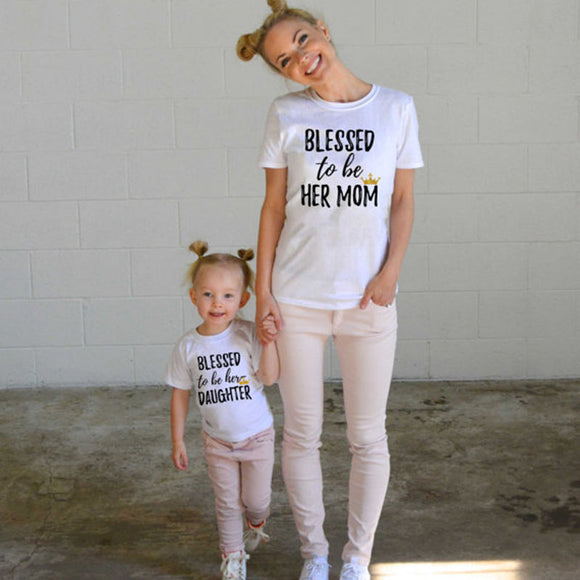 Blessed to be Her Mom and Blessed to be Her Daughter Tees
