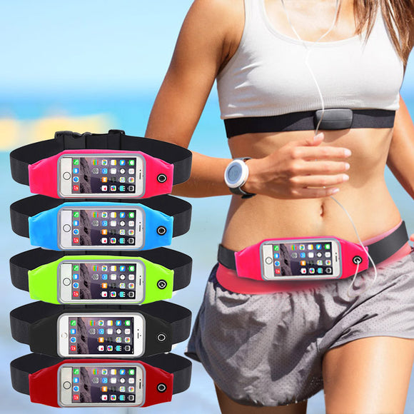 Waterproof Gym Waist Bag Sport Accessories for Universal Phone Case Pouch For iPhone and Samsung Galaxy