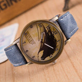 Vintage Horse Painting Wrist Watch