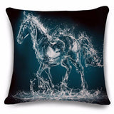 Horse design decor pillow cover