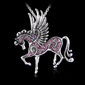 Pegasus Pendant Silver Plated Necklace
