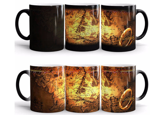 Lord Of Rings Ceramic Coffee Mug Heat Sensitive Color Changing
