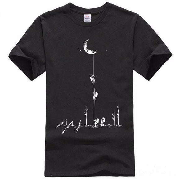Climb To The Moon Printed Tshirt