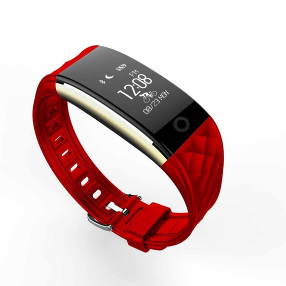 High Quality Android Heart Rate Tracker Sports Watch red color tracker wristwatch