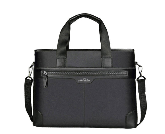 High Quality Business Men Briefcase Luxury Leather Laptop Bag