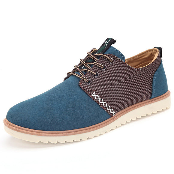 High Quality Nubuck Leather Canvas Style Shoes for Men