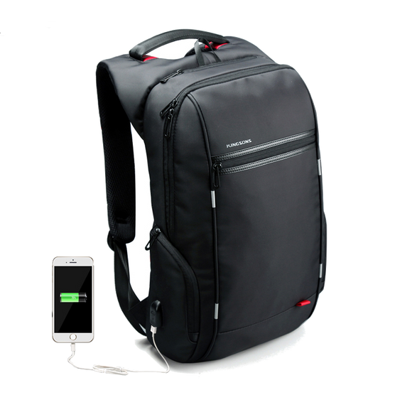 Waterproof Laptop Backpack with External USB Charge