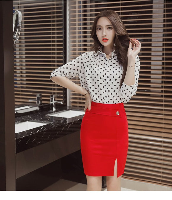 High Waist Pencil Cut Skirt