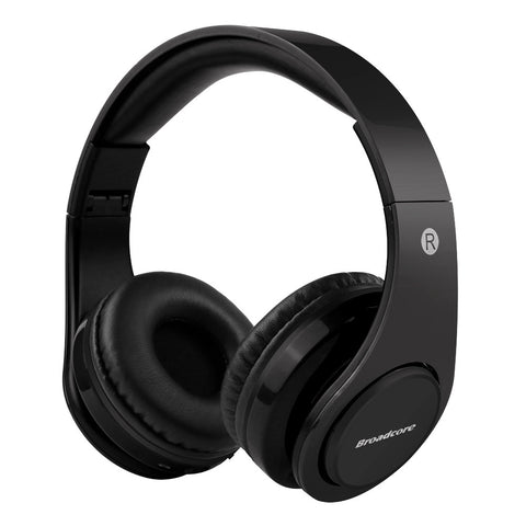 Wireless Bluetooth Foldable Headphones TF card with Mic Microphone-black