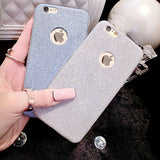 Glitter Powder Ultra Thin Phone Case For iPhone 7 For iPhone 5 5S SE 6 6S 7 Plus