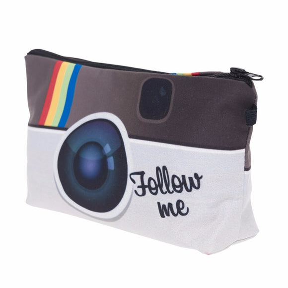 trendy make up purse make up bag with Instagram print make up bag