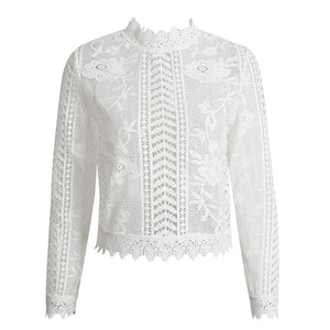 Lace Blouse Top White color