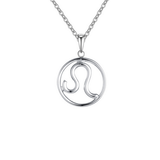 Leo Zodiac sign symbol high quality Silver necklace
