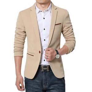 Luxury Brand Men's Blazer Suit Jacket