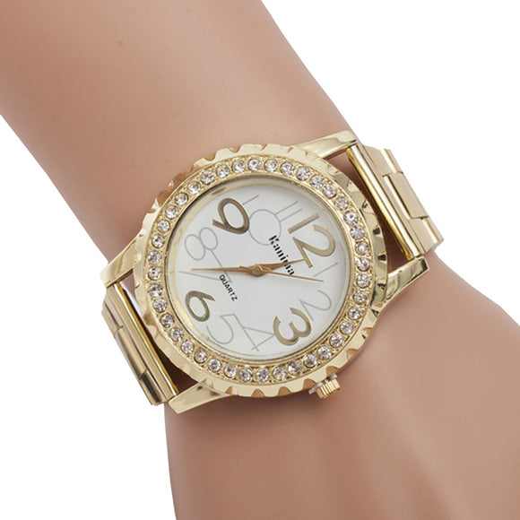 Luxury Bold Crystal Wristwatch Relogio Feminino