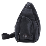 Tactical Military Canvas messenger bag black
